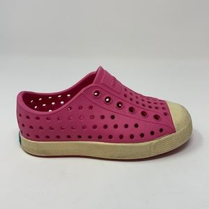 Native Girls Pink Jefferson Toddler Shoes Size 6